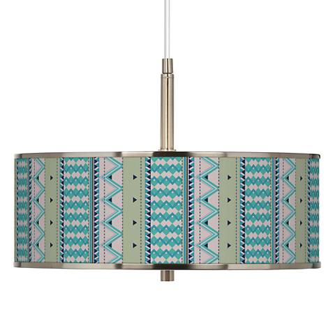 "Geo Metrix Giclee Glow 16"" Wide Pendant Light"