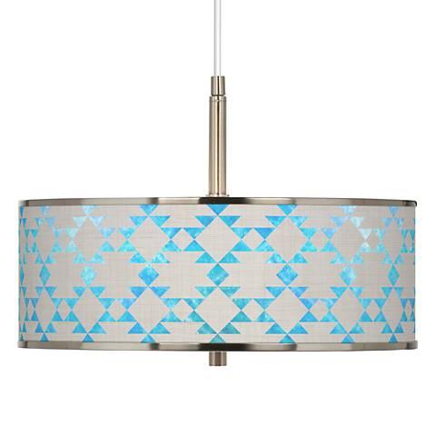"Desert Aquatic Giclee Glow 16"" Wide Pendant Light"