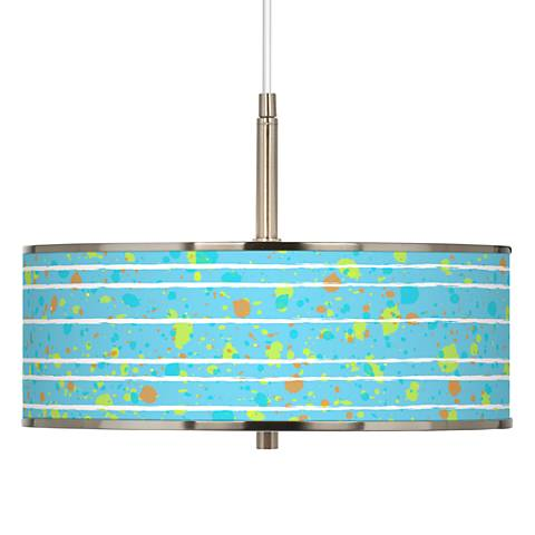 "Paint Drips Giclee Glow 16"" Wide Pendant Light"