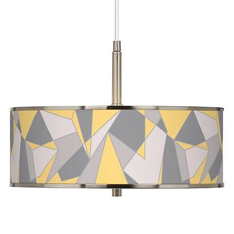 "Modern Mosaic II Giclee Glow 16"" Wide Pendant Light"