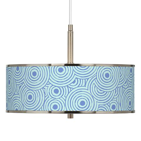 "Circle Daze Giclee Glow 16"" Wide Pendant Light"