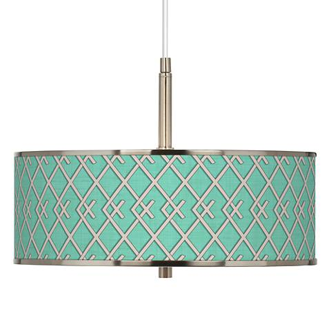 "Crossings Giclee Glow 16"" Wide Pendant Light"