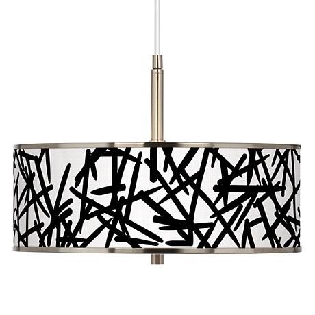 """Sketchy Giclee Glow 16"""" Wide Pendant Light"""