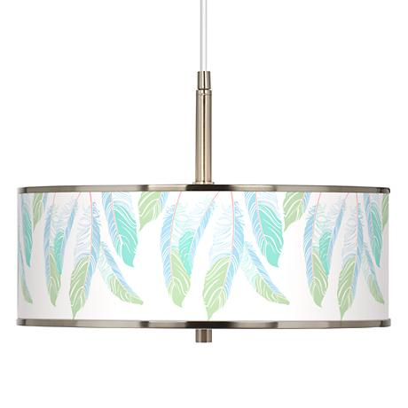 """Light as a Feather Giclee Glow 16"""" Wide Pendant Light"""