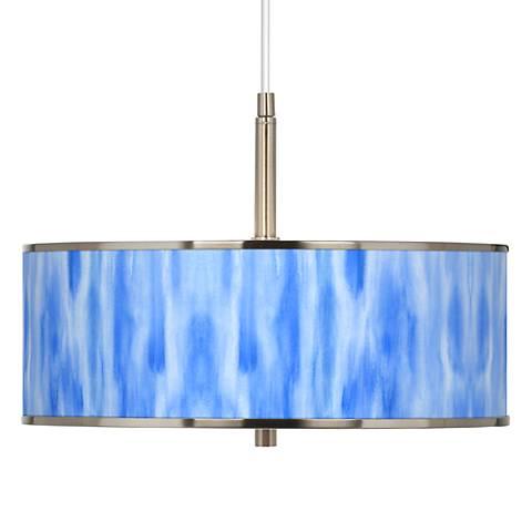 """Blue Tide Giclee Glow 16"""" Wide Pendant Light"""