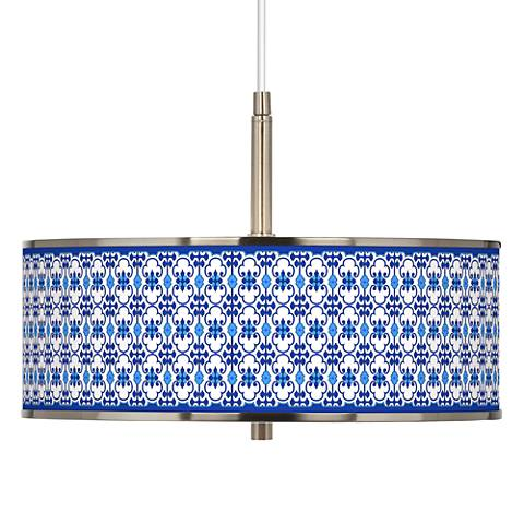 "Indigo Path Giclee Glow 16"" Wide Pendant Light"