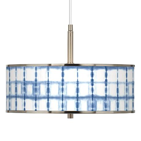 "Blue Mist Giclee Glow 16"" Wide Pendant Light"