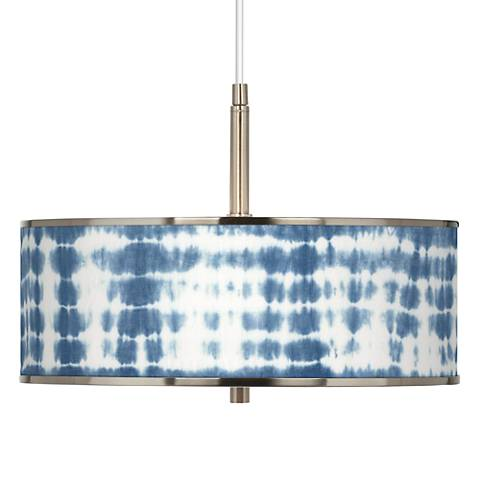 "Shibori Surf Giclee Glow 16"" Wide Pendant Light"