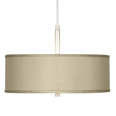 "Sesame Faux Silk 16"" Wide Pendant Chandelier"