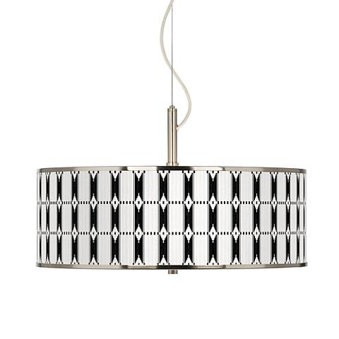 "Tribal Weave Giclee Glow 20"" Wide Pendant Light"