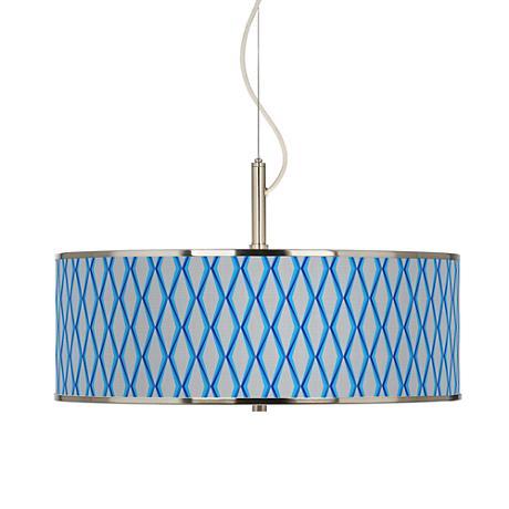 """Bleu Matrix Giclee Glow 20"""" Wide Pendant Light"""