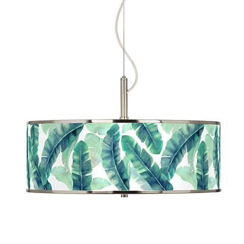 "Guinea Giclee Glow 20"" Wide Pendant Light"
