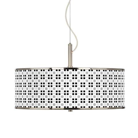 "Quadrant Giclee Glow 20"" Wide Pendant Light"