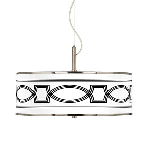 "Concave Giclee Glow 20"" Wide Pendant Light"