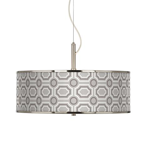 """Luxe Tile Giclee Glow 20"""" Wide Pendant Light"""