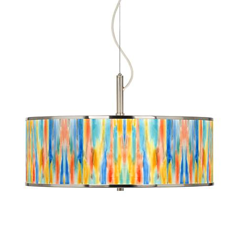 "Tricolor Wash Giclee Glow 20"" Wide Pendant Light"