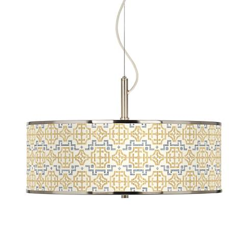 """Willow Chinoiserie Giclee Glow 20"""" Wide Pendant Light"""