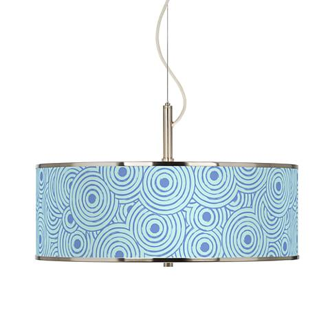 "Circle Daze Giclee Glow 20"" Wide Pendant Light"