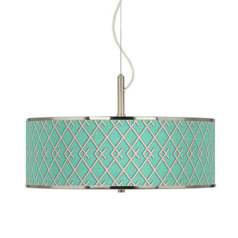 "Crossings Giclee Glow 20"" Wide Pendant Light"