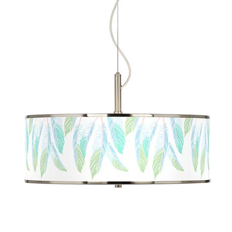 "Light as a Feather Giclee Glow 20"" Wide Pendant Light"