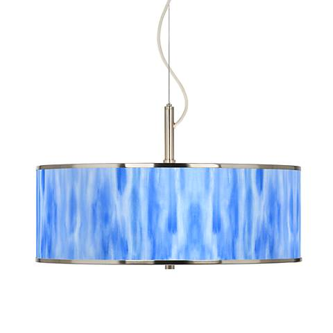 "Blue Tide Giclee Glow 20"" Wide Pendant Light"