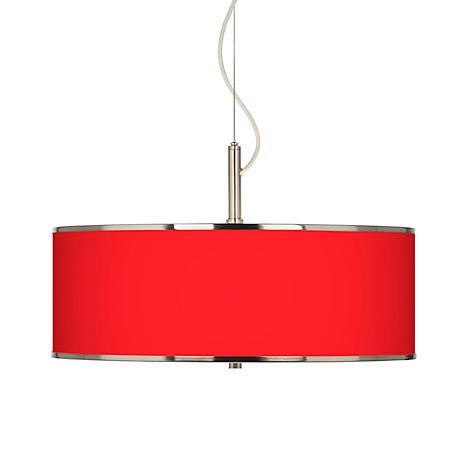 """All Red Giclee Glow 20"""" Wide Pendant Light"""