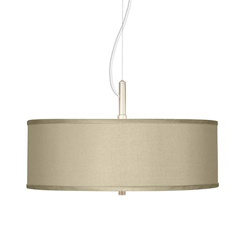 "Sesame Faux Silk 20"" Wide Pendant Chandelier"