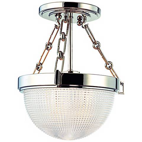 "Hudson Valley Winfield Nickel 10 1/2"" Wide Ceiling Light"