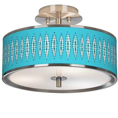 "Vibraphonic Bounce Giclee Glow 14"" Wide Ceiling Light"