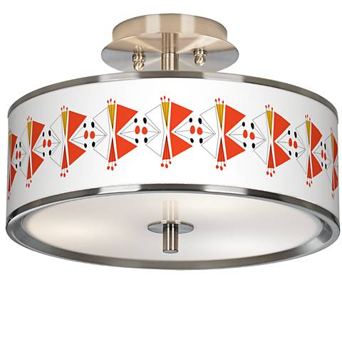 "Lexiconic III Giclee Glow 14"" Wide Ceiling Light"