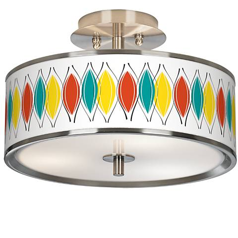 "Harmonium Giclee Glow 14"" Wide Ceiling Light"