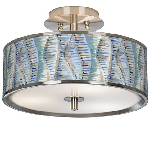 "Siren Giclee Glow 14"" Wide Ceiling Light"