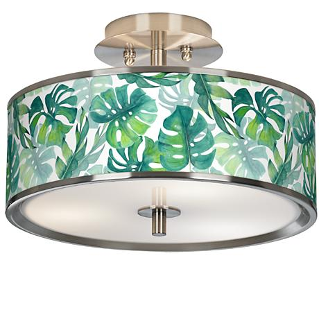 """Tropica Giclee Glow 14"""" Wide Ceiling Light"""