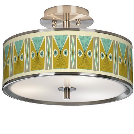 "Vernaculis III Giclee Glow 14"" Wide Ceiling Light"