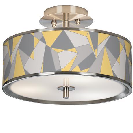 "Modern Mosaic II Giclee Glow 14"" Wide Ceiling Light"