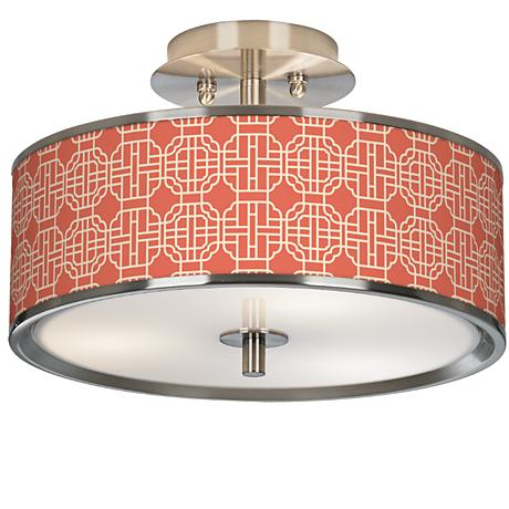 "Mandarin Giclee Glow 14"" Wide Ceiling Light"