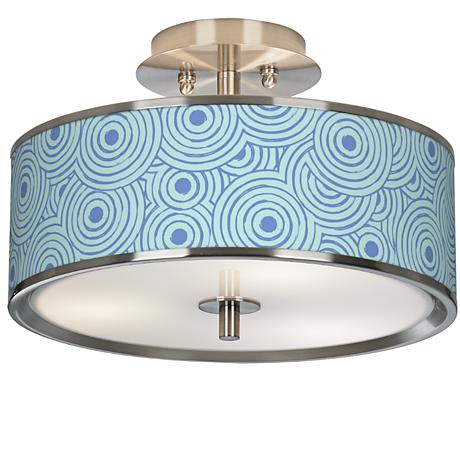 "Circle Daze Giclee Glow 14"" Wide Ceiling Light"