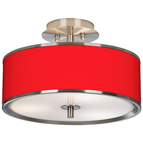 "All Red Giclee Glow 14"" Wide Ceiling Light"