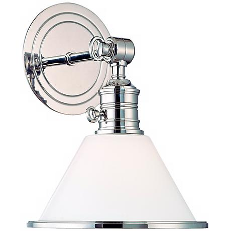 Garden City Polished Nickel Adjustable Wall Sconce - #T6523 Lamps Plus