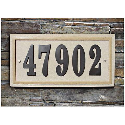 Ridgestone Sandstone Rectangle Address Plaque
