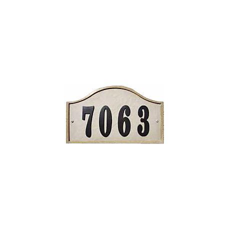Ridgestone Sandstone Finish Serpentine Address Plaque