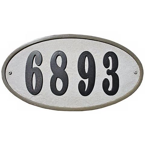 Ridgestone Slate Oval Address Plaque