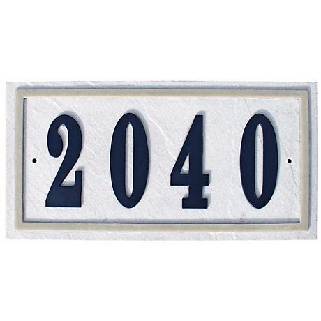 Ridgestone Slate Finish Rectangle Address Plaque