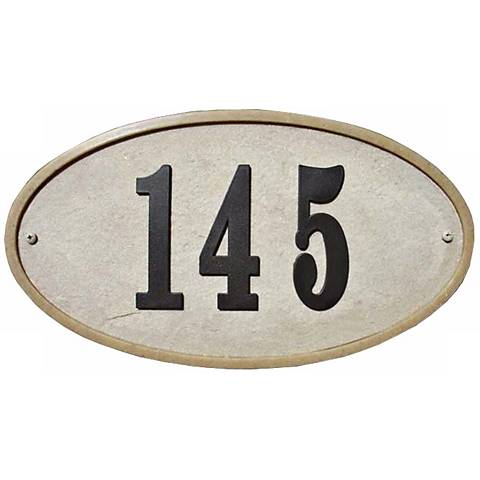 Ridgestone Sandstone Finish Oval Address Plaque