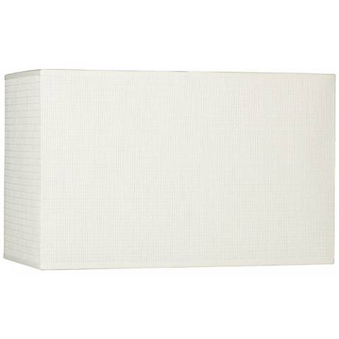White Rectangular Paper Weave Shade 8/16x8/16x10 (Spider)