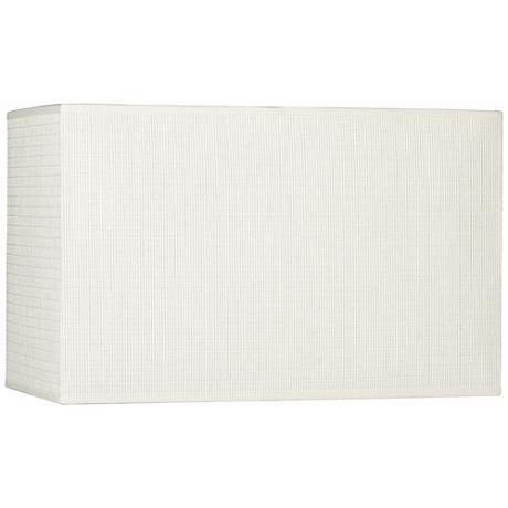 White Rectangular Paper Weave Shade 8/16x8/16x10 (Spider)