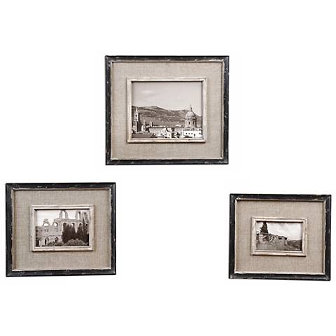 Set of 3 Uttermost Kalidas Photo Frames