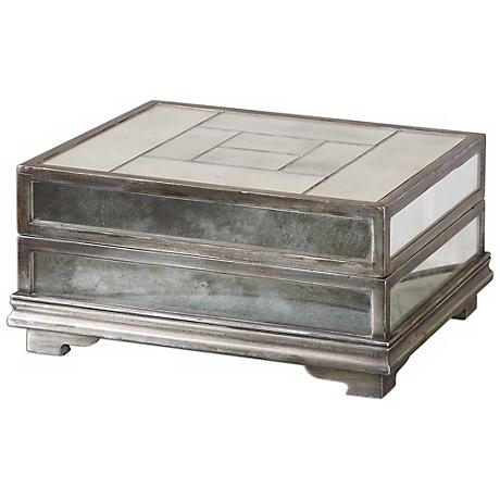 Uttermost Trory Antiqued Mirrored Box