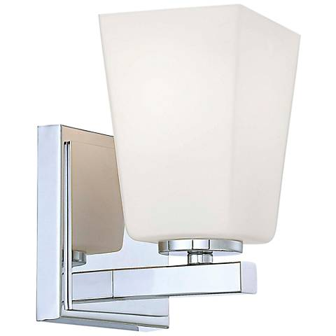 "City Square 7"" High Chrome Wall Sconce"