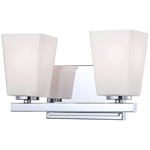 "City Square 12 1/4"" Wide Chrome 2-Light Bath Light"